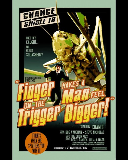 Single Art: Finger on the Trigger Makes a Man Feel Bigger